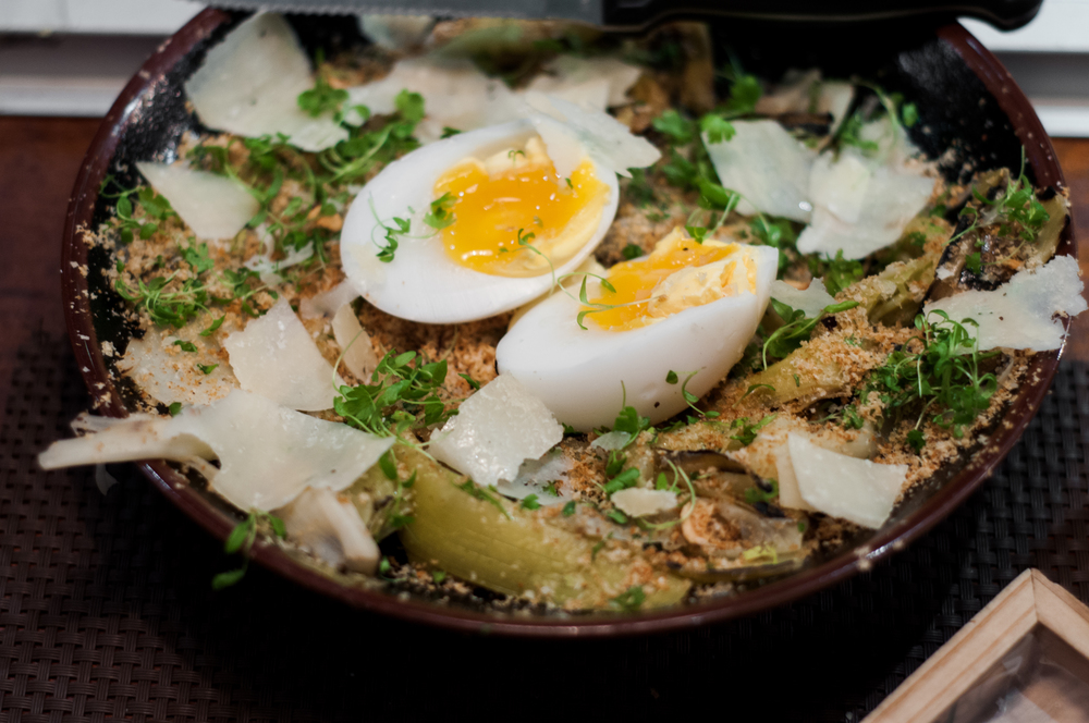 Braised leeks dish at The Gastro Bar