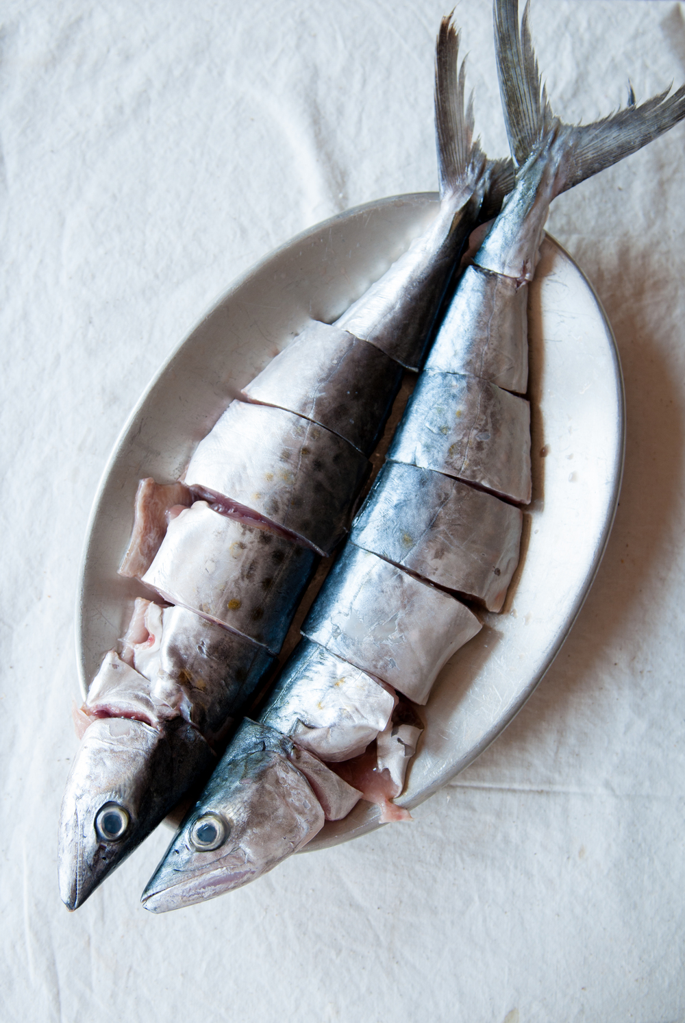 Fresh small mackerel are perfect for making fish curry as they stay firm through the cooking process.