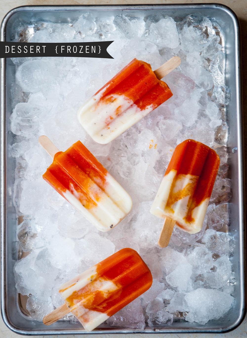 YOGURT + PAPAYA ICE POPS