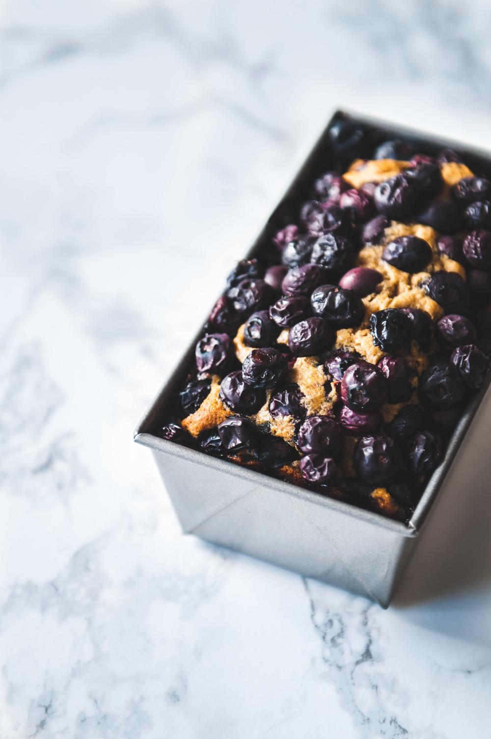 GLUTEN FREE BLUEBERRY POUND CAKE