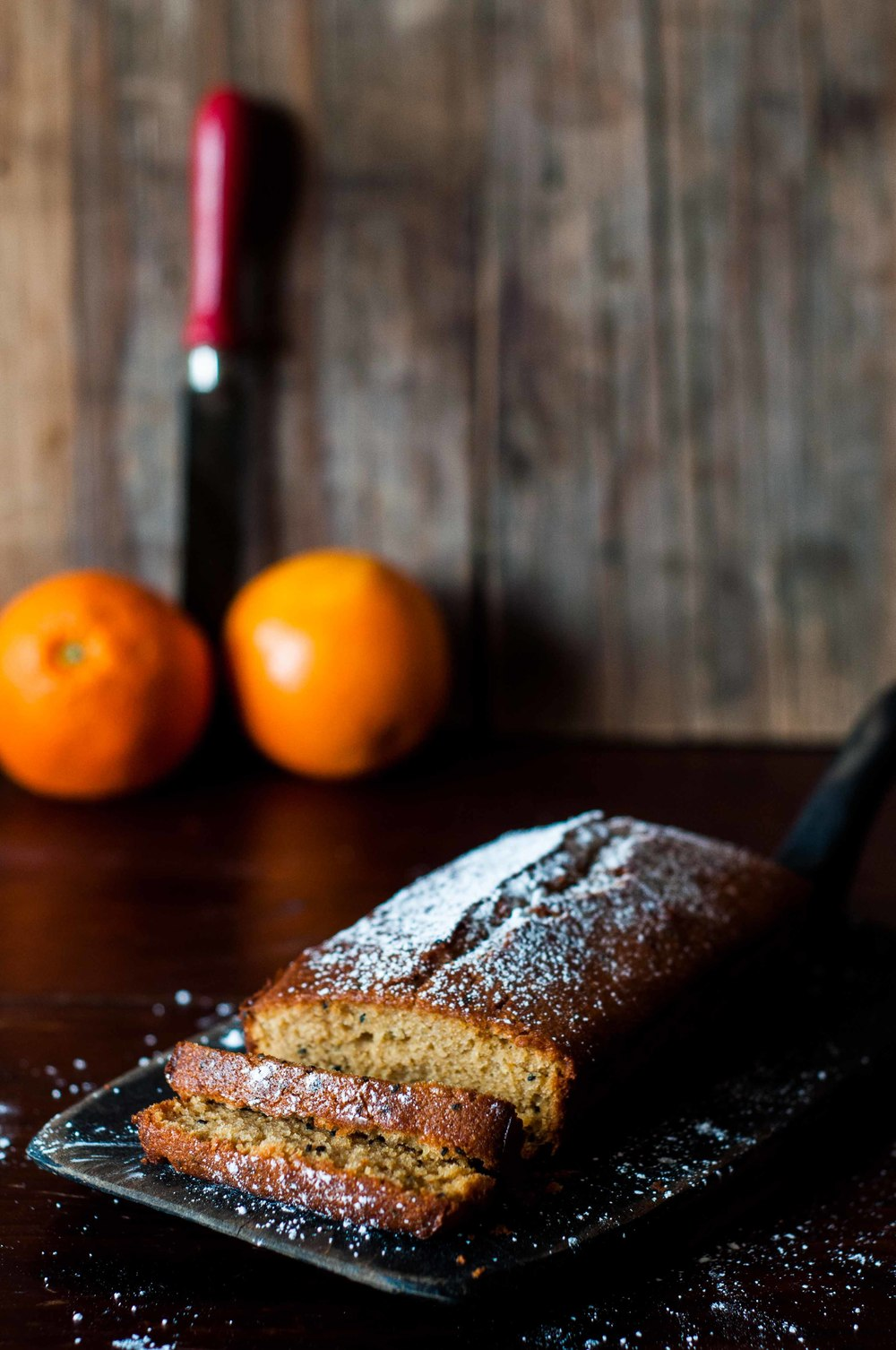 Glutenfree Orange and Nigella loaf cake with ginger syrup