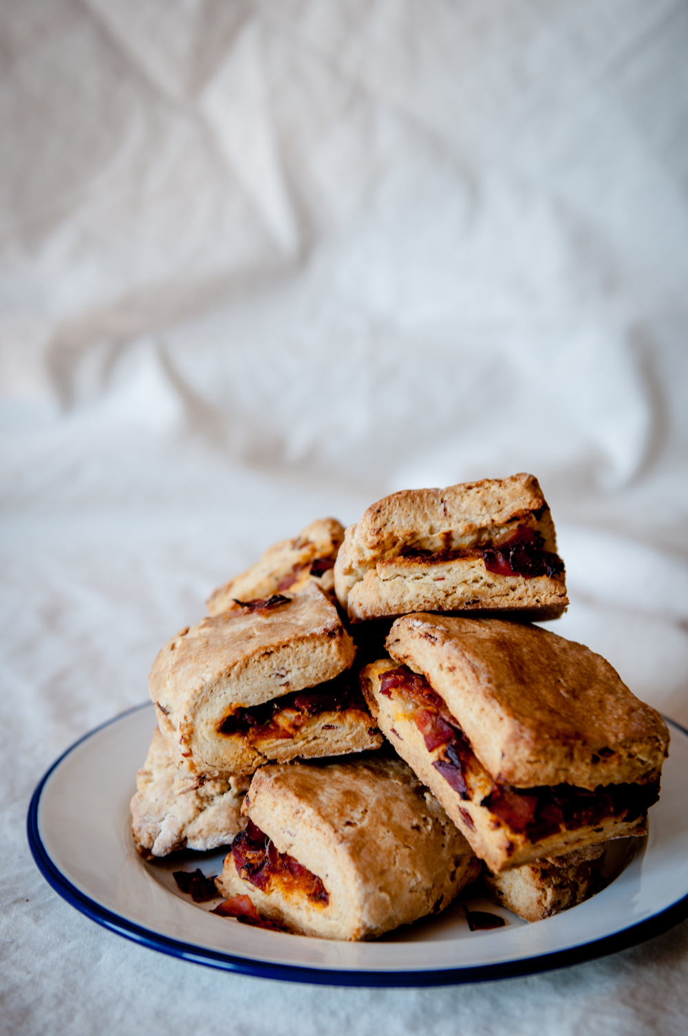 STUFFED SPECK SCONES