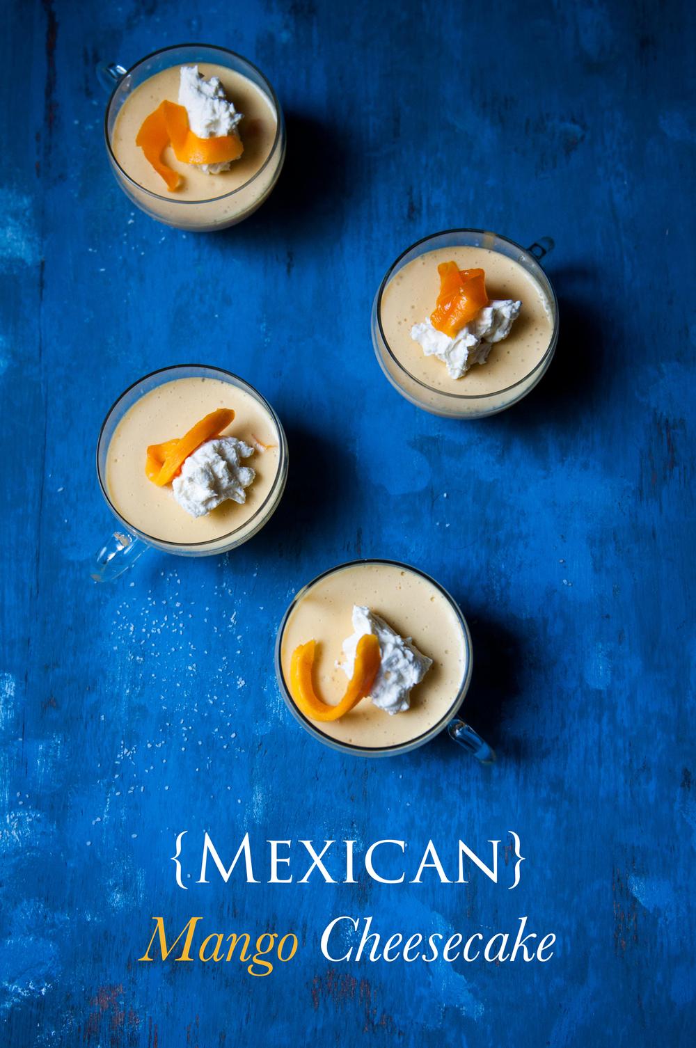 Mango No-Bake {Mexican} Cheesecake