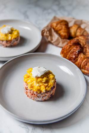 POTTED SALMON + SOFT SCRAMBLED EGGS