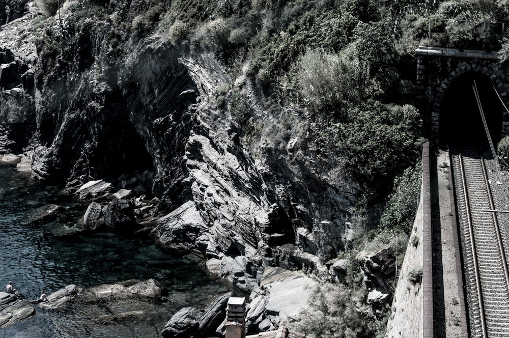The old train road which is now part of the hike from Vernazza to Monterosso al Mare