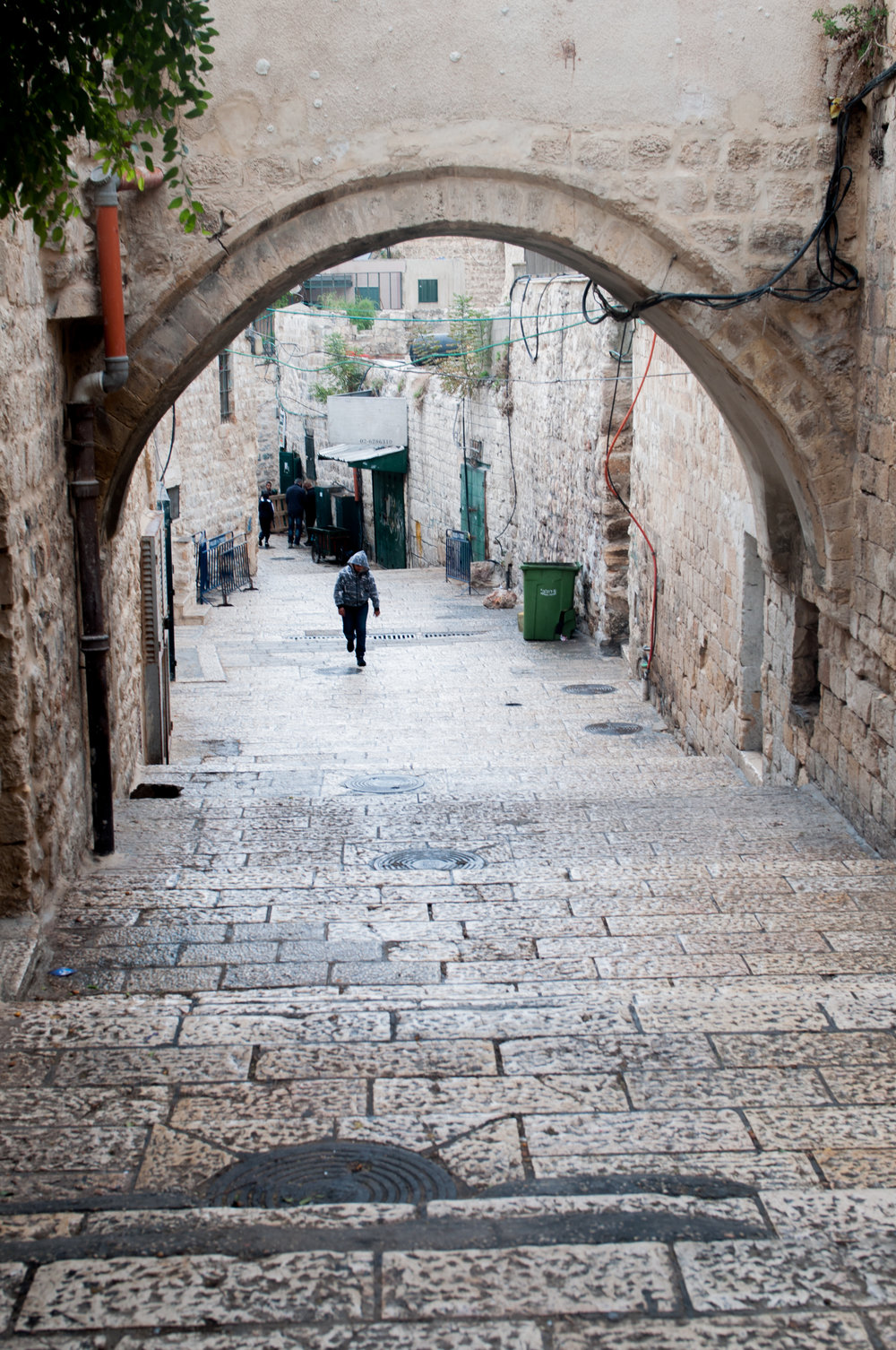 The Muslim Quarter  - Adjacent to the machneyehuda market, you can walk through a beautiful cobblestoned alley of arches up to the muslim area. It is far from affluent and you do see the hardships of the people in plain view.