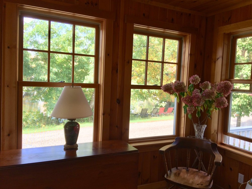 Three season porch (this is where the twin bed to sleep a fifth person is located).