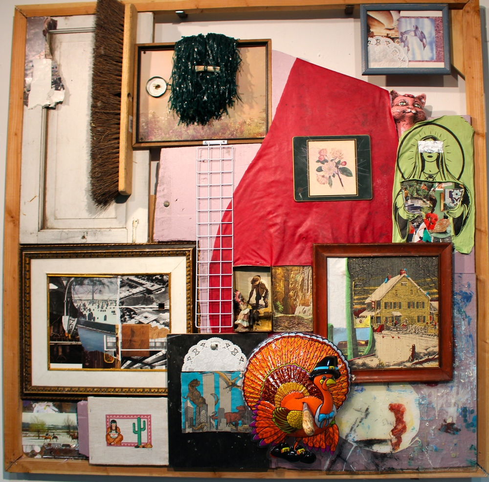 A three-dimensional collage by Ben Schofield '14