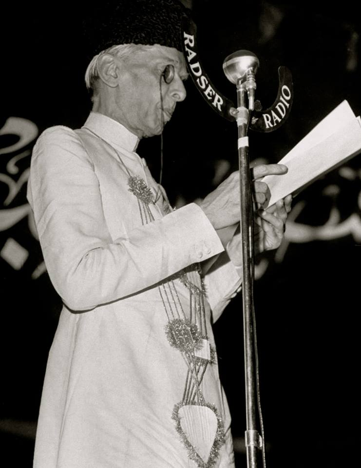 1948 photograph of Muhammad Ali Jinnah, the founding father of Pakistan. Photo via Wikimedia Commons.