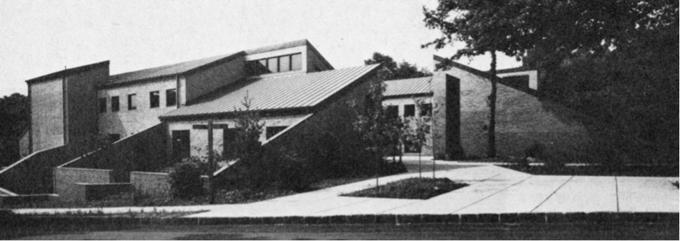 The new Library is finished at Sarah Lawrence College. The building would later be dedicated to Esther Raushenbush in 1979.   Photo Courtesy of Sarah Lawrence College Archives