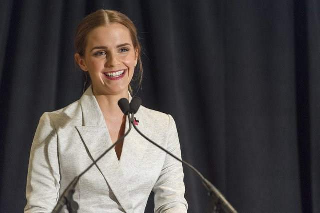 Actress, model, scholar, and UN Women's Goodwill Ambassador Emma Watson delivered an impassioned speech at the United Nations on the cause of feminism.  Photo via CNN.com