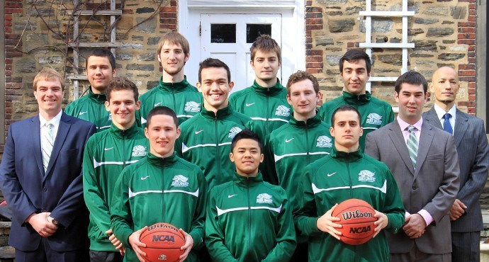 The Men's Basket Team poses for a group photo at the start of their season.  Photo courtesy Paul Blascovich.