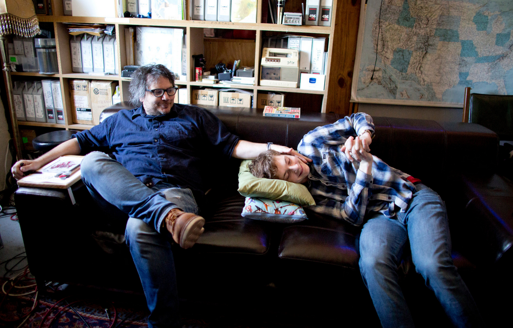 Jeff Tweedy and his son, Spencer. Photo via  The New York Times