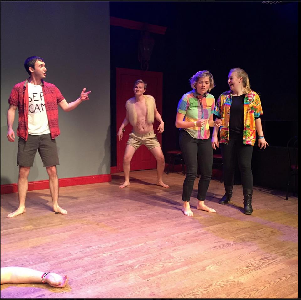 New Greta performing at the Peoples Improv Theatre. Photo courtesy of the New Greta Facebook page.