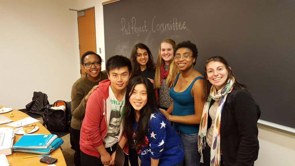 The PHIL Project, a student-run committee that focuses on philanthropy. Photo Credit: Lexy Rivera, MFA '15