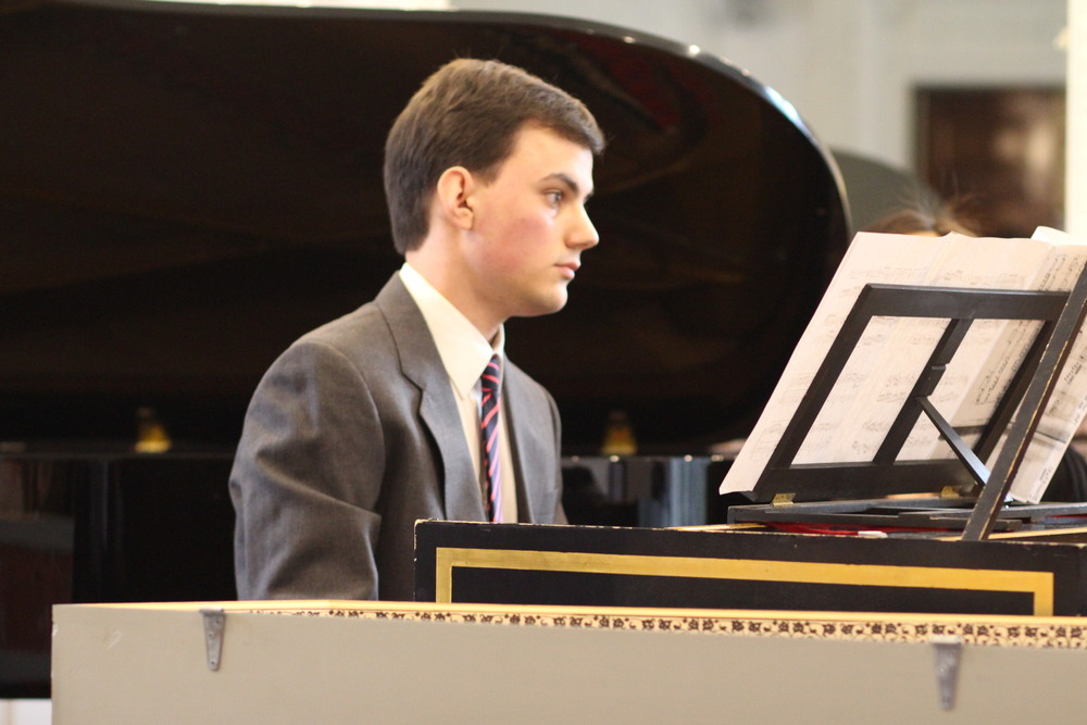 Music student Caleb Jaster performing.   Photo credit: Vanilla Kalai Anandam