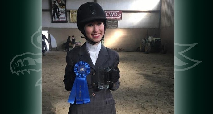 Sarah Lawrence equestrian team member Rachel Lit.   Photo courtesy of Go Gryphons