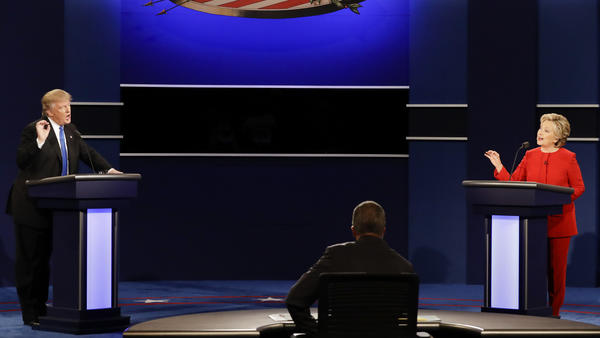 The First Presidential debate. Photo credit: David Goldman/Associated Press, courtesy of the Los Angeles Times
