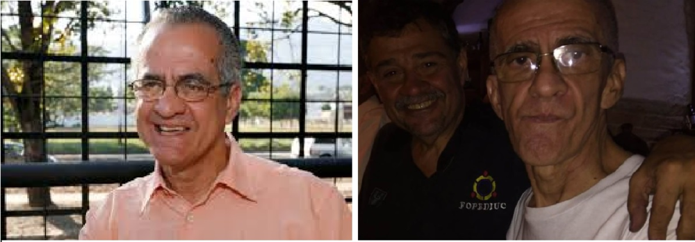 Professor Santiago Guevara before (left) and after (right) he was released from prison. He has lost between 60 and 70 pounds since being imprisoned. Photo Credit: Scholars at Risk