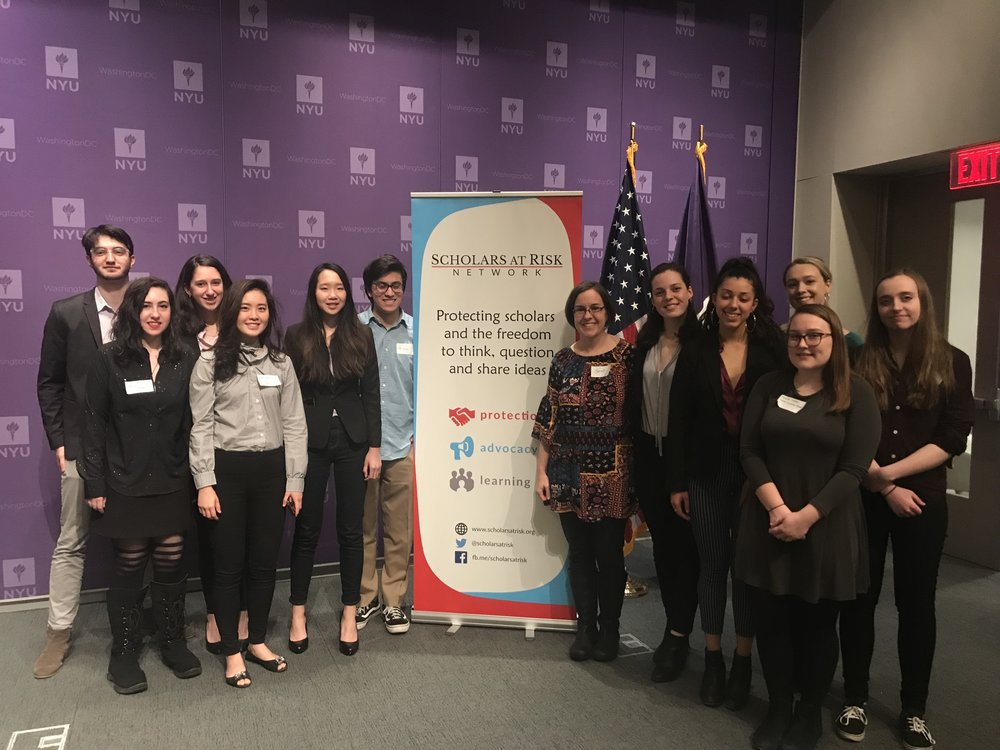 Sarah Lawrence students participated in Scholars at Risk Advocacy Day in Washington DC on March 8, 2018. Credit: Sarah Almeida