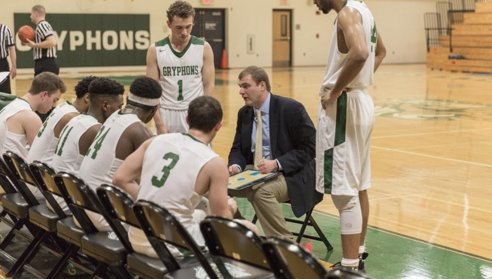 Men's Basketball is gearing up for a new season, but their biggest challenge lies in rehabilitating their campus reputation. (Credit: GoGryphons.com)
