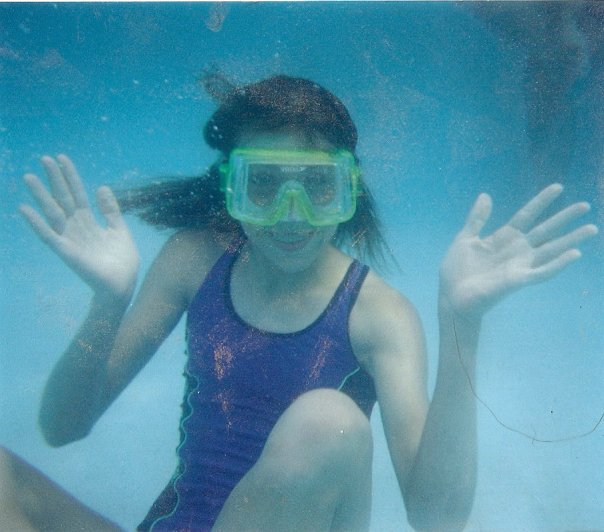 Being super awkward underwater circa 2000