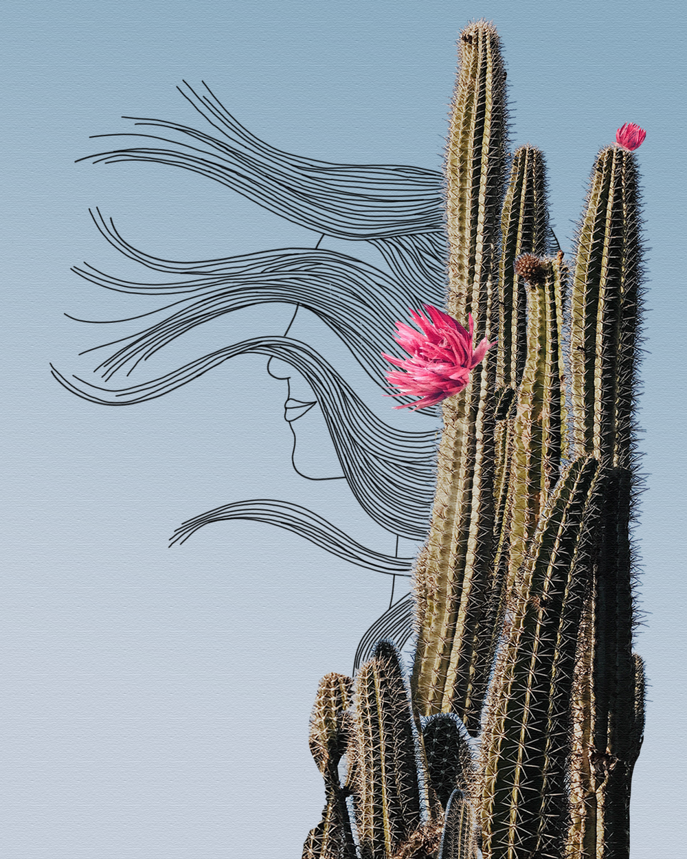 A work in progress from this week: Cactus lady.