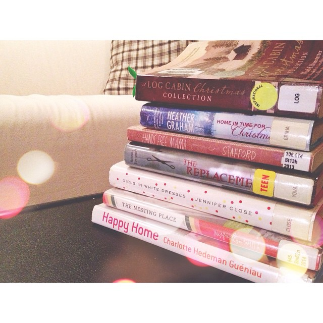 Happy stack of books! 📚 Ever since we moved here, going to the library is a treat. The one in town is tiny with limited books; so, once a month or so, I drive out to Lexington and pick up a delightful stack to keep me happy. Definitely needed these. Already loving The Nesting Place! #books #happybooks #stackofbooks #librarybooks