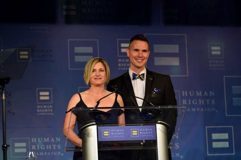 HRC Gala Chairs, Matt Hendry and Heather Freyer.