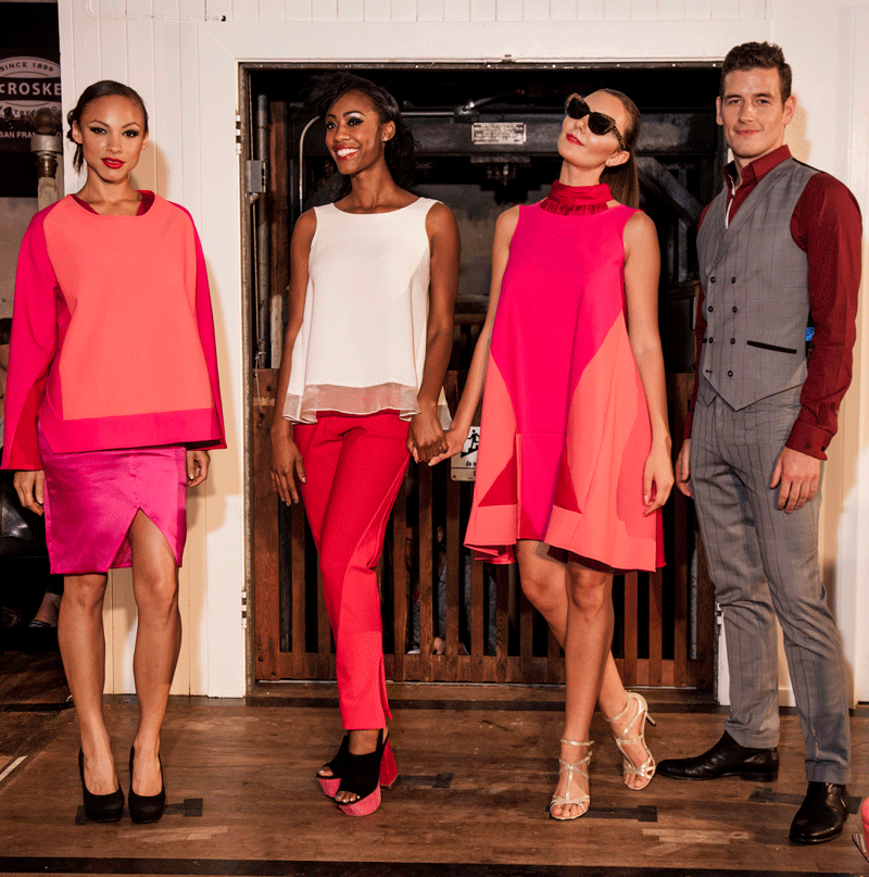 Designers Sounthavong (first three starting from the left) and Artful Gentleman (right)