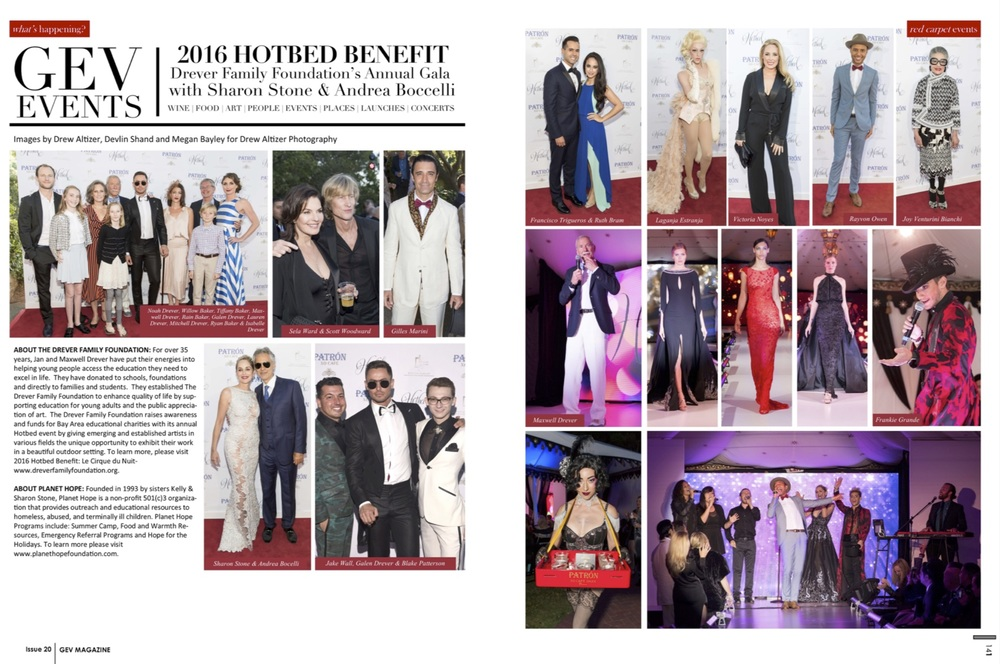 "GASTRONOMIQUE en VOGUE Magazine -- ""On the Town: 2016 HOTBED Benefit with JAKE"" The Drever Family Foundation turns up the heat in Tiburon with the help of JAKE and a handful of amazing celebrities. [ Read More... ]"