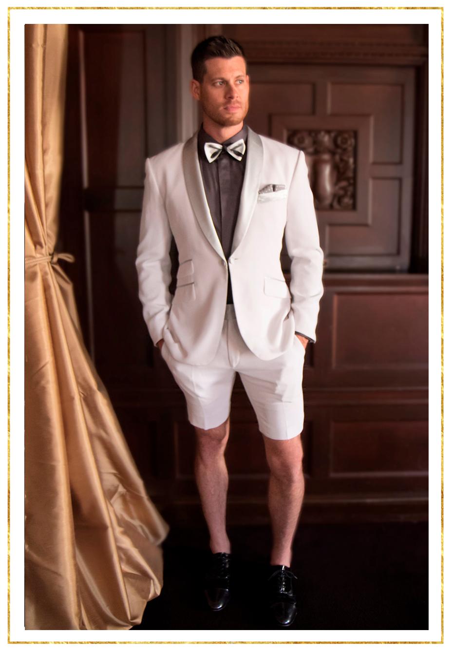 The Marcello Satin Shawl Tuxedo with Short