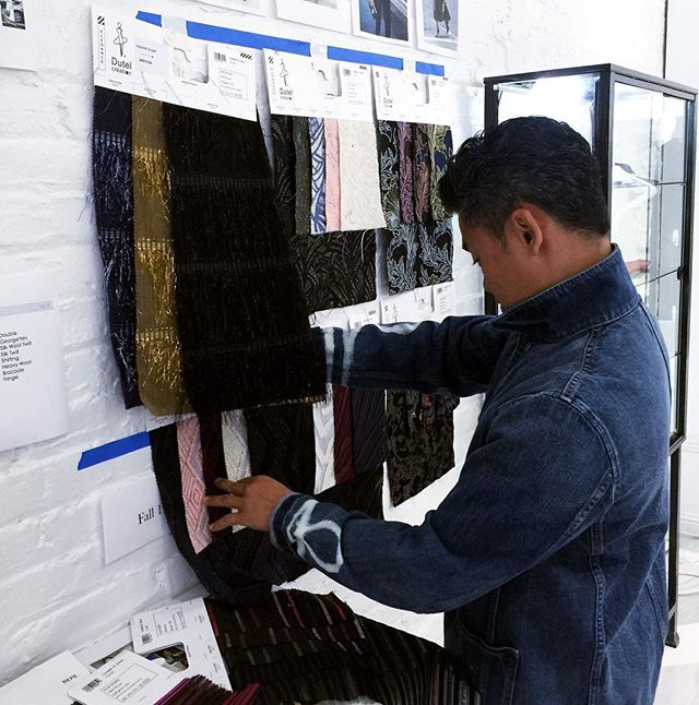 #Inspiration is up and fabric swatches are in! Our creative team is in action and we can't wait to show you more glimpses into the making of our upcoming collection.  #iwearjake #atelier #fw18 #madewithlove #fashiondesign #creativeprocess #designprocess