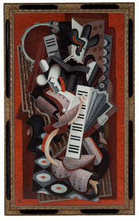 Related work     Danseurs à l'accordéon  c1928, oil on canvas,   132.5 x 76.5 cm, Mrs Edith Power Bequest1961, University of Sydney,managed by Museum of Sydney