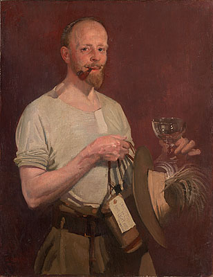 George Lambert,  The Official Artist (Self Portrait)  1921, oil on canvas, 91.7 x 71.5 cm, National Gallery of Victoria, Melbourne, purchased through the Felton Bequest in 1921