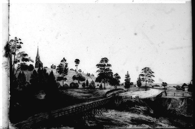 Thomas woore rough sketch book cowpastures bridge 1842