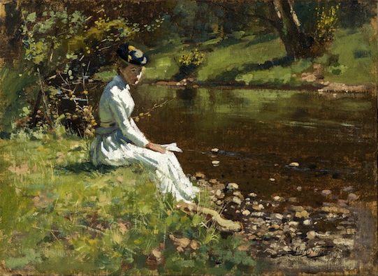 "JAMES McLACHLAN NAIRN (1859–1904) ""Lady at Silverstream"" c1892"