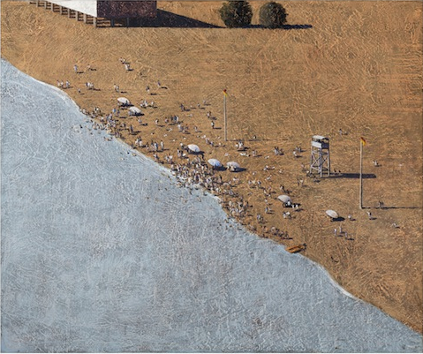 LAWRENCE M. DAWS born 1927 The Beach 1999