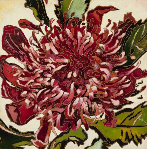 Cressida Campbell Waratah 1979 woodblock