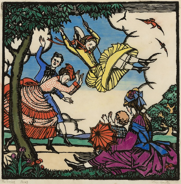 Thea Proctor The Swing 1925 woodcut