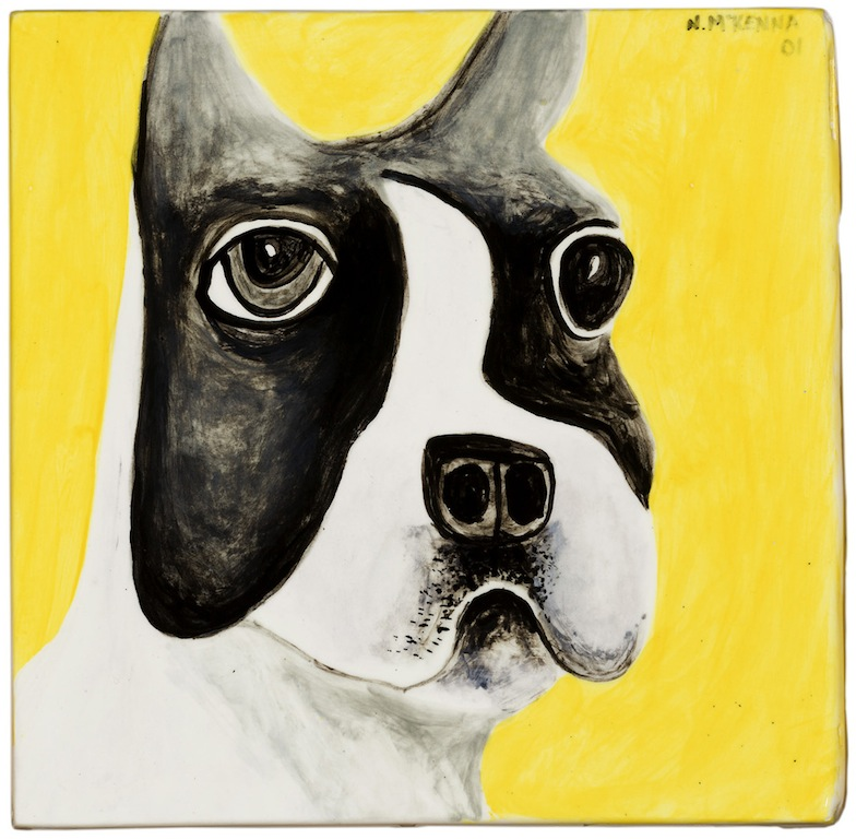 Noel Mckenna Boston Terrier 2001 ceramic tile