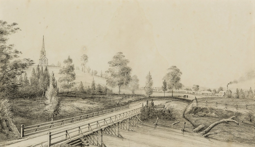 Cowpastures) Bridge & Village of Camden   1842