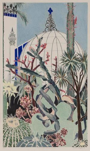 Cressida Campbell, Cactii Botanic Gardens Adelaide 1987
