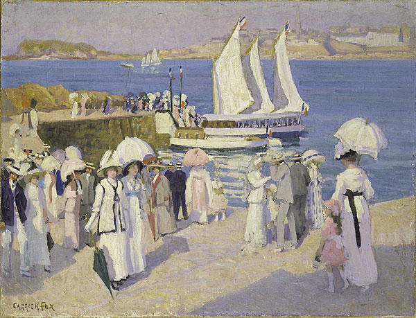 Ethel Carrick Fox The Quay at Dinard c1911 oil painting art