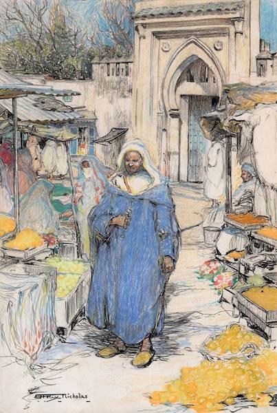 HILDA RIX NICHOLAS, THE MOORISH ARCHWAY c1912-1914
