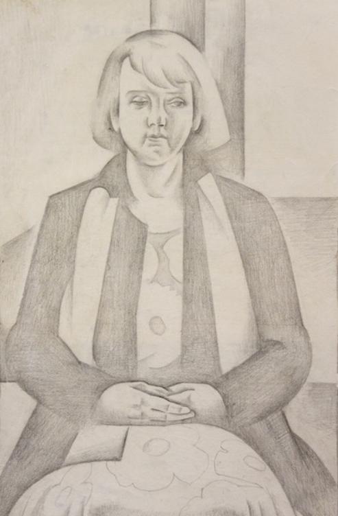 Dorrit Black - Untitled (Portrait Study) c1930