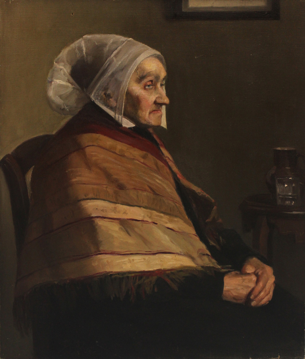 "Bessie Davidson, ""French Peasant with Shawl"""