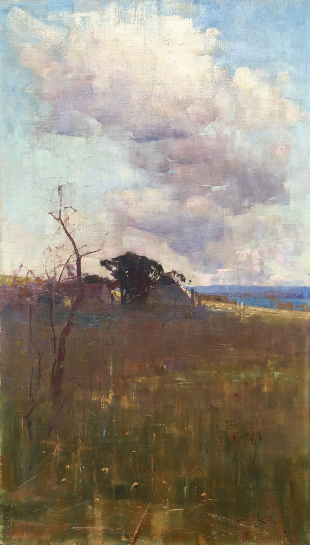 Autumn, Richmond, New South Wales (Circa 1896) oil on canvas 69 x 39.6cm
