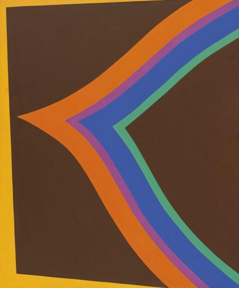 SYDNEY BALL 1933 'SAMARRA TURN' 1968 synthetic polymer paint on canvas, 91.0 x 76.0 cm
