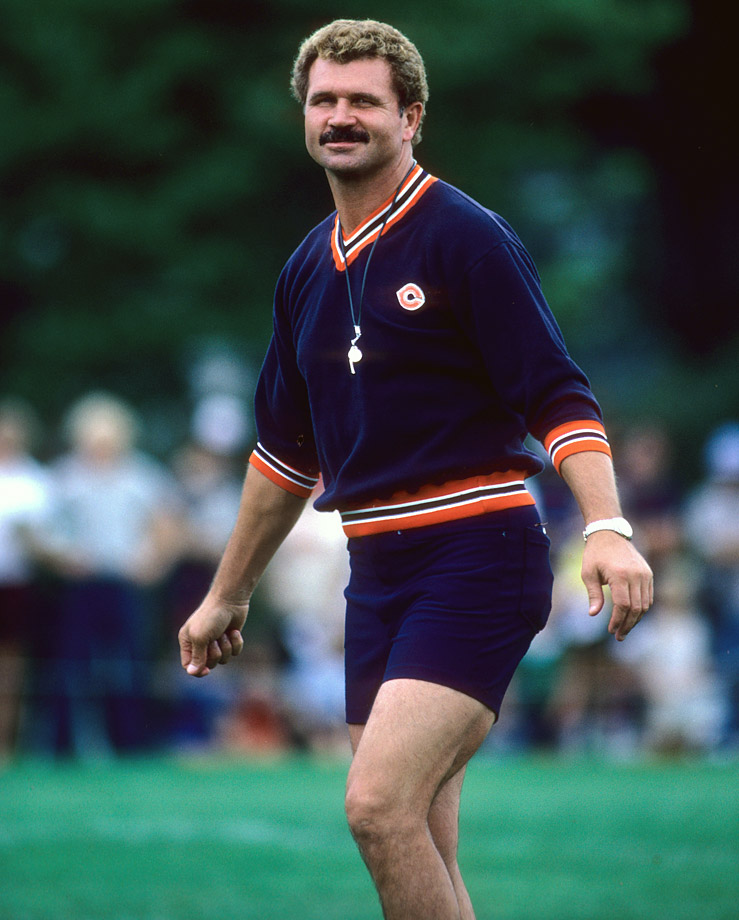 Mike Ditka. I really hope that is velour. Regardless, that hair and that 'stache, wow.